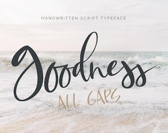 Calligraphy font, Handwritten font, script font, all caps font, modern calligraphy font, digital font, typeface, wedding font, handlettered