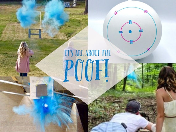 "6.25"" SHOOTING TARGET Gender Reveal Balls Pink or Blue Ships Same Day!"