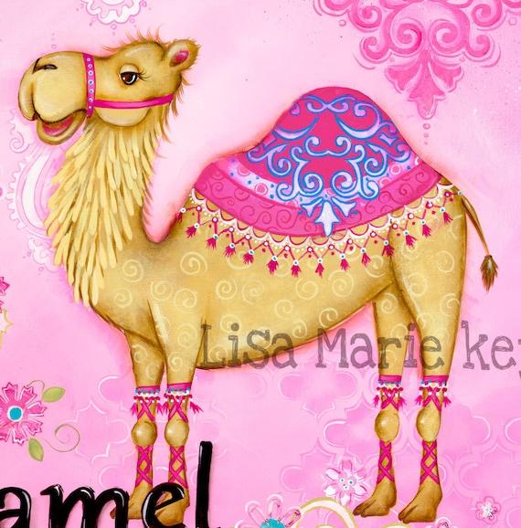 Camel Wall Art Childrens Wall Art Moroccan Nursery