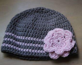 Soft Pink Stripe Hat