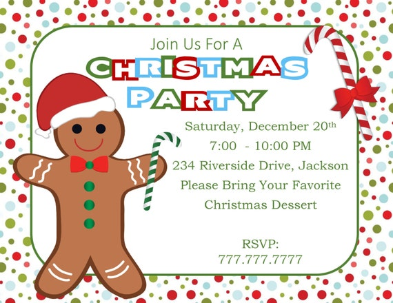 diy printable christmas party invitation christmas benefit