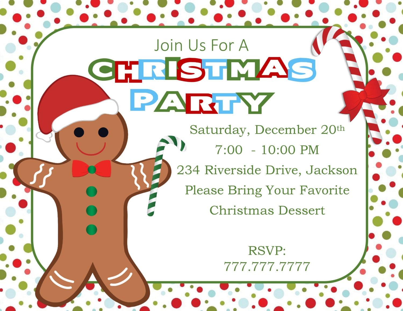 DIY PRINTABLE Christmas Party Invitation| Christmas Benefit | Office ...