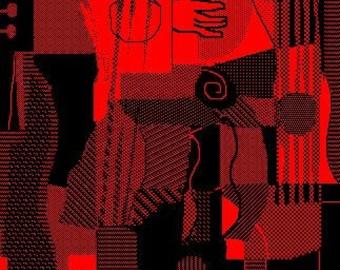 Red Guitar 10