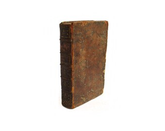 1778 leather bound book - a volume of the letters of the Marquis au Comte de Valmont, text in French - Free US Shipping