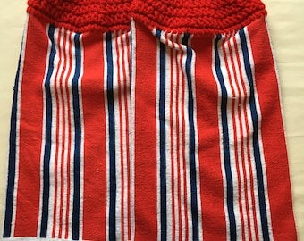 Red White & Blue Kitchen Towel set of 2