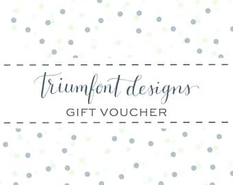 Gift Voucher for a Word Portrait