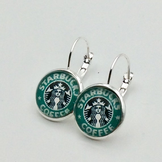 Your Custom Logo Here!  Lever-Back or Post Earrings in Silver tone or Antique Brass.  Blue velvet gift pouch included.