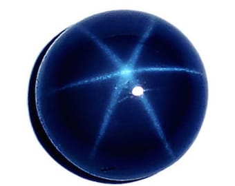 Natural Blue Star Sapphire Round Cabochon 6 Rays Top Quality Loose Stones (5mm - 9mm)