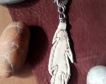 leather keychain - feather  Ref: KC 21