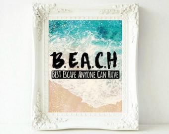 Beach Print Beach Art Beach Decor Beach Wall Art Coastal Wall Art Ocean Print Ocean Art Coastal Decor Beach House Decor Printable Art