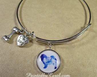 Chow Chow Bangle, Chow Chow Jewelry, Chow Chow Bracelet, Chow Chow Expand It, Chow Chow Gifts, Chow Chow Mom Gifts, Chow Lover Gifts