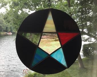Elements Pentagram Window/Wall Hanging
