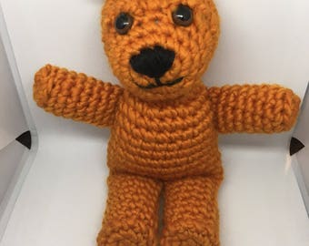Cute Orange Crochet Grizzly Bear