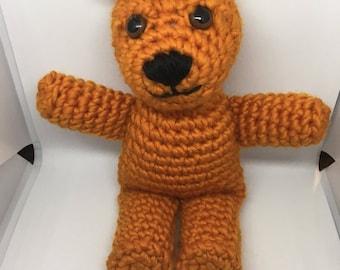 Cute Orange Crochet Grizzly Bear