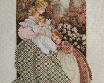New Finished Completed Cross Stitch - Morning Song - P202k