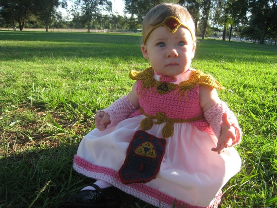 Items similar to SOLD - Baby Princess Zelda Costume Repurposed Dress on Etsy  sc 1 st  Etsy & Items similar to SOLD - Baby Princess Zelda Costume Repurposed Dress ...