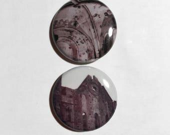 Rock of Cashel Pins - Cashel Ireland Button - Irish Architecture - Film Photo Pins - County Tipperary Ireland - St Patrick's Day Pins