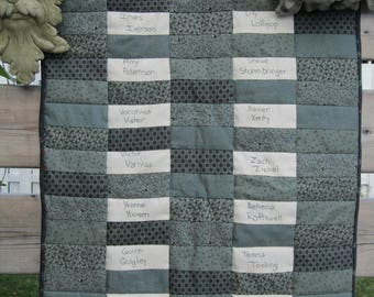 Twin or Throw-Size Signature Quilt; Memory Quilt; Wedding Book Quilt; Baby Shower Quilt; Family Reunion Quilt; Bar Mitzvah Quilt
