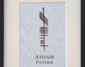 Father (Athair) Ogham 8x10 Print