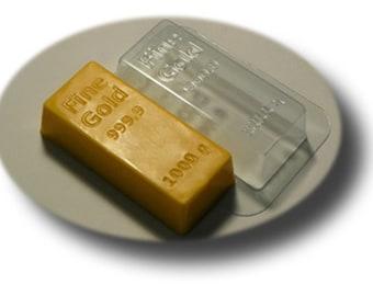 Gold bar - plastic soap mold soap making soap mould molds soap mold