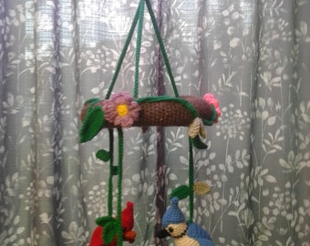 Crochet Baby Mobile With Birds