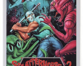 Splatterhouse 2 Fridge Magnet. Videogame Box Art.Megadrive