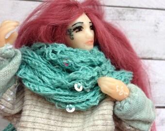 Mirna doll twelveth scale miniature posable Birthday doll