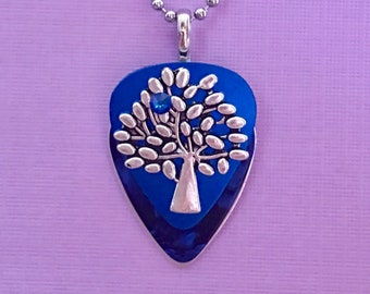 """Guitar Pick Necklace """"Dance With Life"""""""