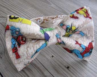 spiderman birthday party children wolverine bow tie Avenger bow tie children superhero bow tie thor bow tie wedding  marvel comic bow tie