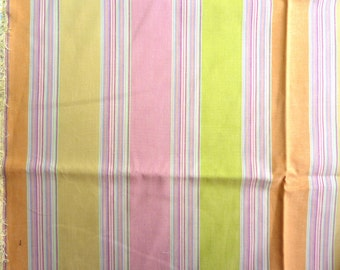 "Pastel Stripes Medium Weight Cotton Fabric.  56"" wide x 68 inches"