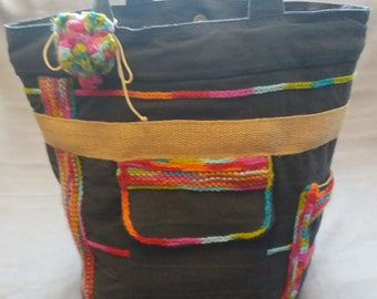 SALE 20% off until 28/06/2018 bag in colorful wool and linen