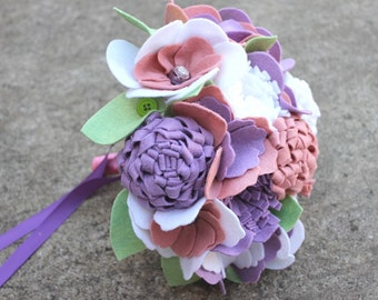"12 Stem ""Felt So Pretty Bouquet"" Felt Flower Bouquet"