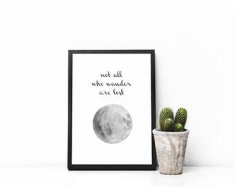 Moon Wander - Digital Print - Digital illustration