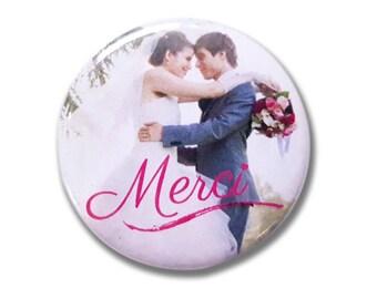 Wedding photo thank you magnet