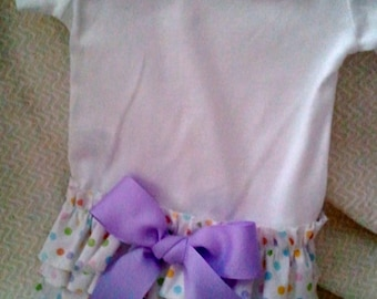 Colorful Dot Ruffle Butt One-Piece Baby Outfit