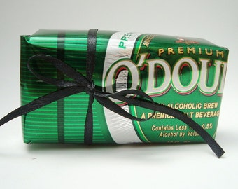O'Doul's Near Beer Can Gift Box, Recycled  Eco Friendly Repurposed, NA Beer Non Alcohol, gift wrap