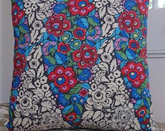 Amy Butler Hapi Trapeze design Charcoal Cushion Cover/pillow 45cm