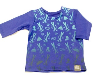 Baby sweater after ski, baby t-shirt, bamboo rayon