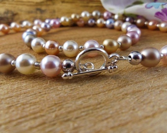 Vintage Style Swarovski Pearl Necklace