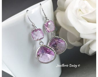Lavender Earrings Bridesmaid Earrings Purple Earrings Lavender Jewelry Mother of Groom Gift Mother of Bride Gift for Her Violet Wedding