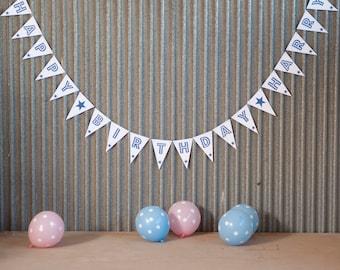 Happy Birthday Bunting // Birthday Banner // Happy Birthday Banner // Party Decoration // Party Decor // Party Decorations // Happy Birthday