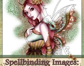 Adult Coloring Book - Printable Coloring Book - Fantasy Coloring Book - Digital Download - 20 Images to Color - Volume 2 - Nikki Burnette
