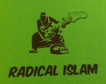 Radical Islam Burka Guitar Screen Print Hoodie Sizes S-5XL