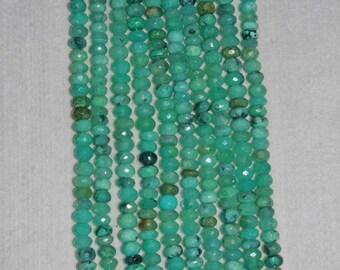 Opal, Peruvian Opal, Faceted Rondelle, Blue Opal, Gemstone Rondelle, Natural Stone, Semi Precious, Gemstone, Natural Opal, Half Strand, 8mm