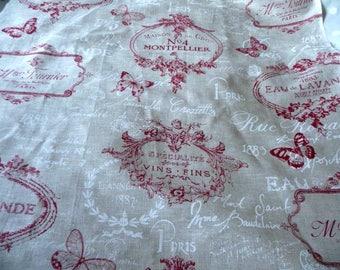 Fabric linen large advertising