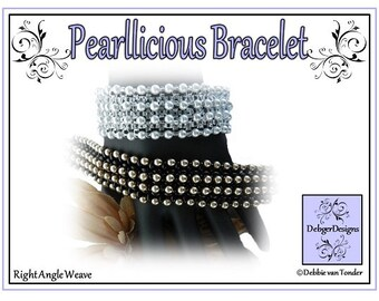 Beading Pattern, Tutorial, Bracelet - PEARLLICIOUS