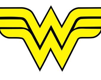 Wonder Woman precut iron on heat transfer vinyl logo