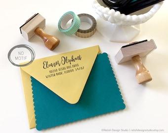 Personalized Return Address Stamp, Boho Style Custom Address Stamp, Modern Return Address Stamp, Fun Mailing Stamp, Feather, Arrow, Chevron