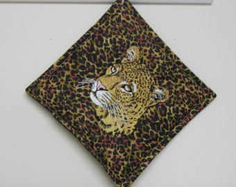 Leopard Embroidered Pot Holder