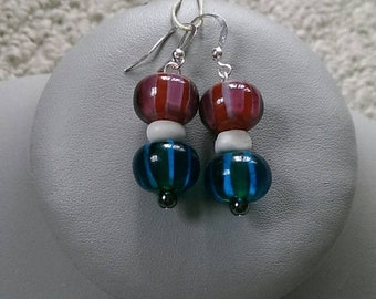 SALE Stripes Of Patriotism Earrings